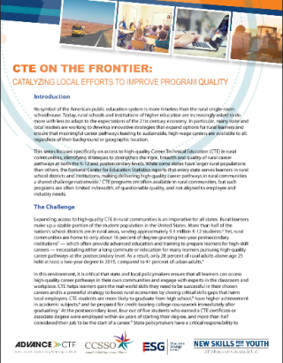 State Strategies for Rural CTE