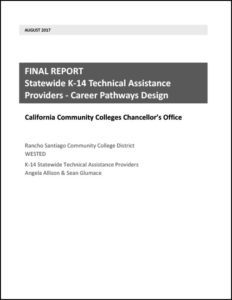 Final Report Statewide K 14 Technical Assistance Providers Career